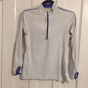 Workout zipneck with thumb holes XS